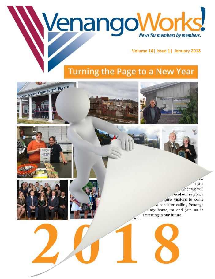 Venango Works Newsletter, Volume 14, issue 1, January 2018