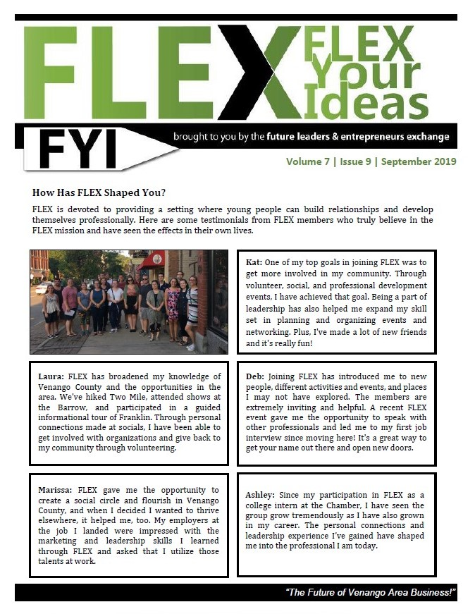 Flex Newsletter for September 2019